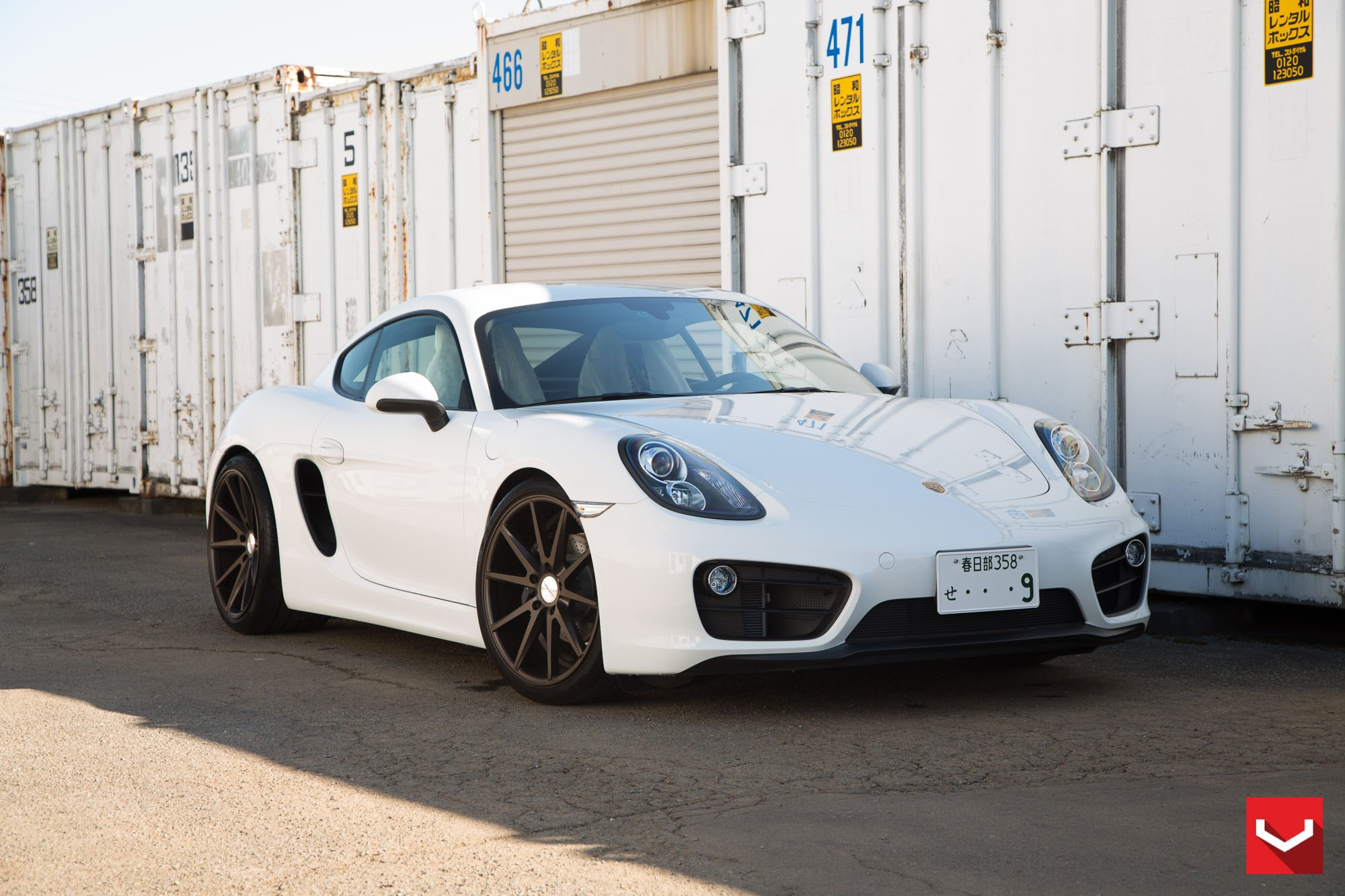 moderate tuning kit on white porsche cayman. Black Bedroom Furniture Sets. Home Design Ideas
