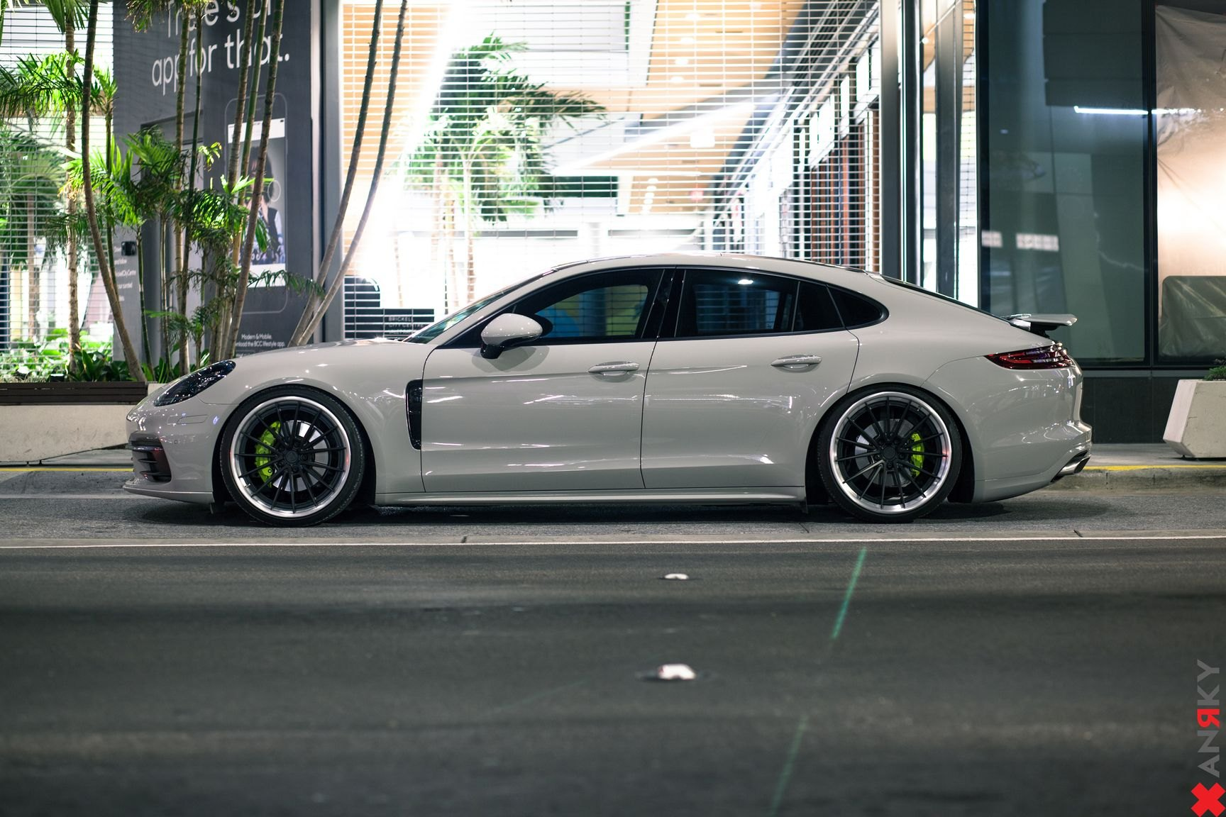 Amazing Contrast White Porsche Panamera On Satin Black Anrky Wheels Carid Com Gallery