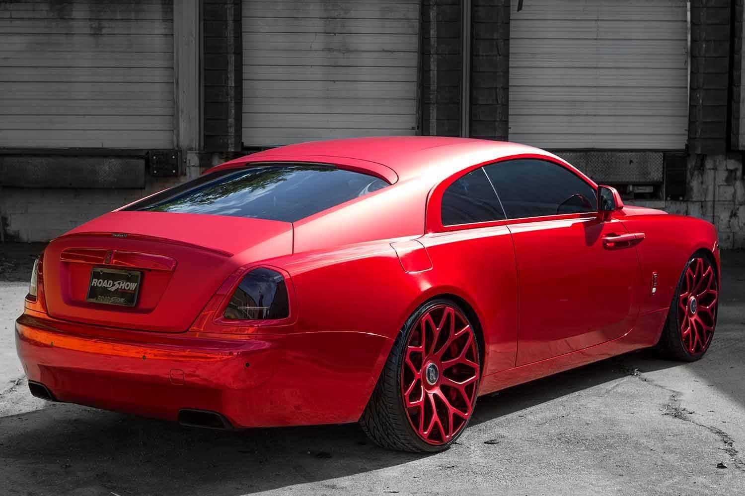 Red On Red Extremely Stylish Rolls Royce Wraith Boasting Painted