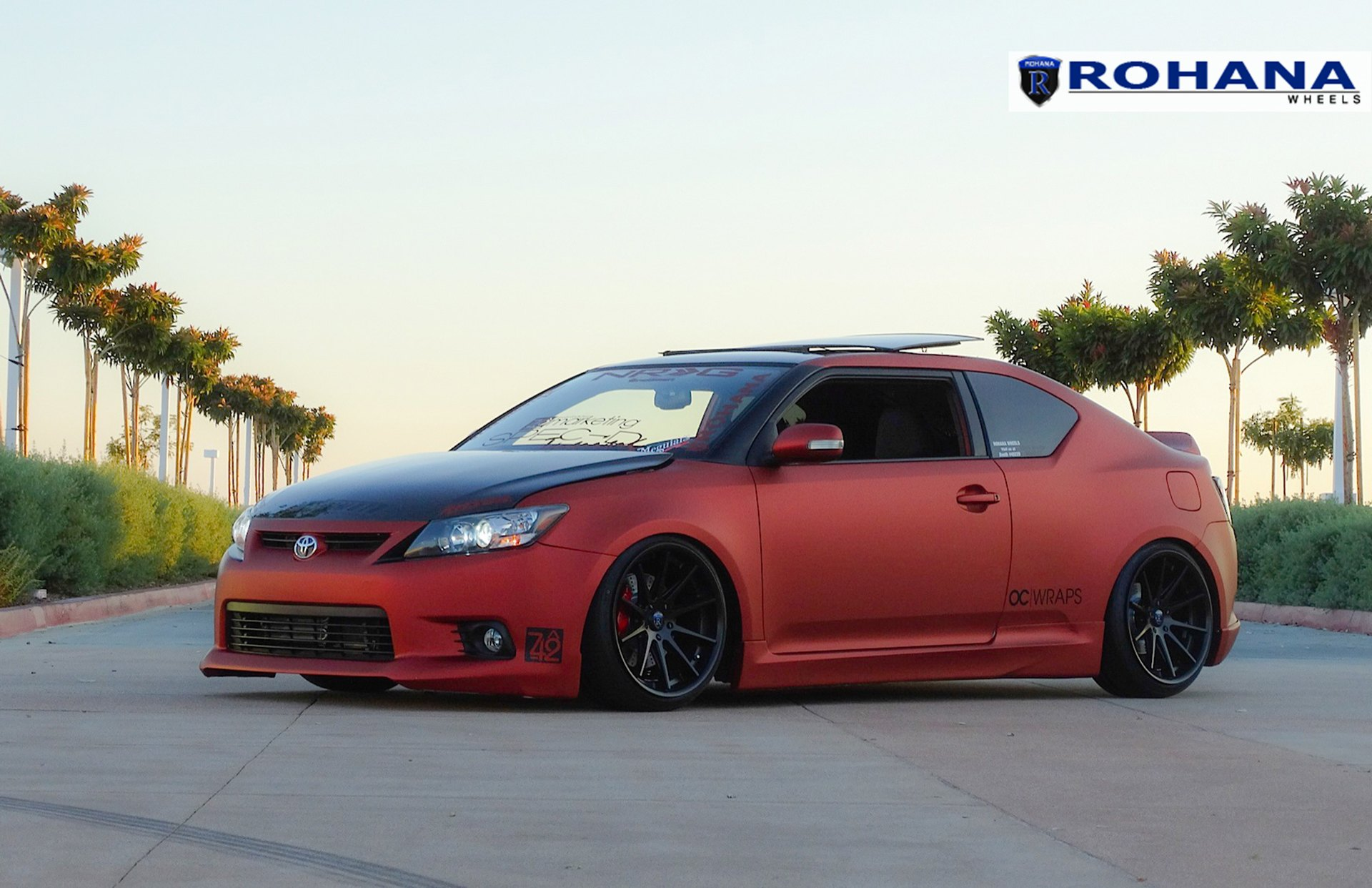 slammed scion tc on rc10 rims by rohana gallery. Black Bedroom Furniture Sets. Home Design Ideas