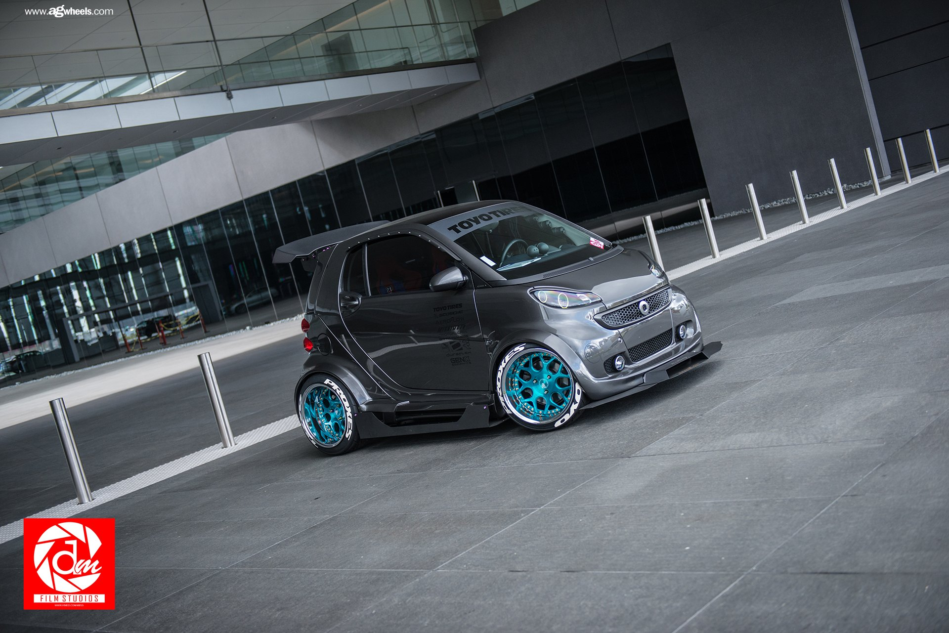 Gray Smart Car Fortwo With Ultra Modern Touch With Custom Body Kit