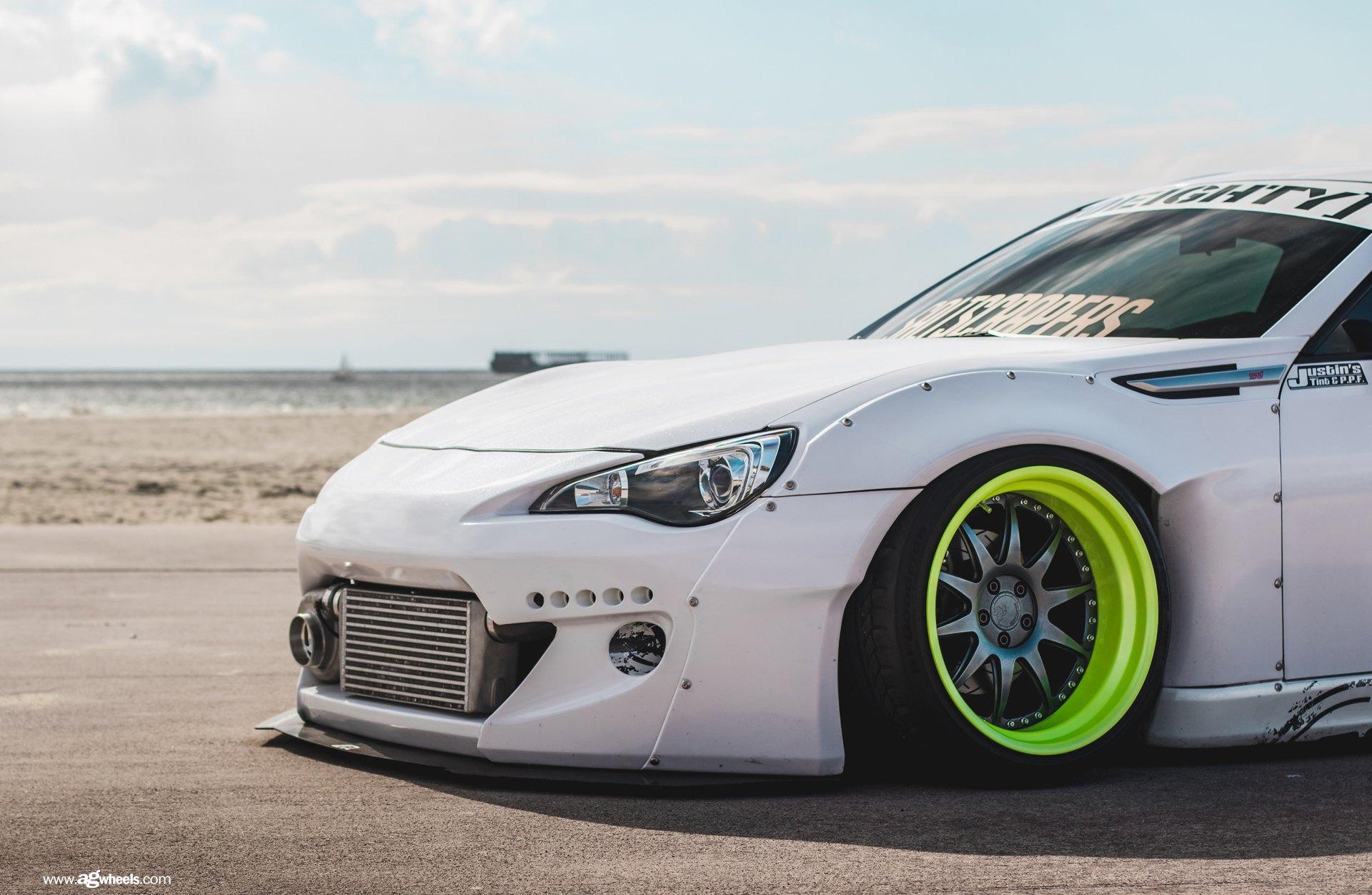 White Subaru BRZ Boasting Amazing Airbrush Paint and ...
