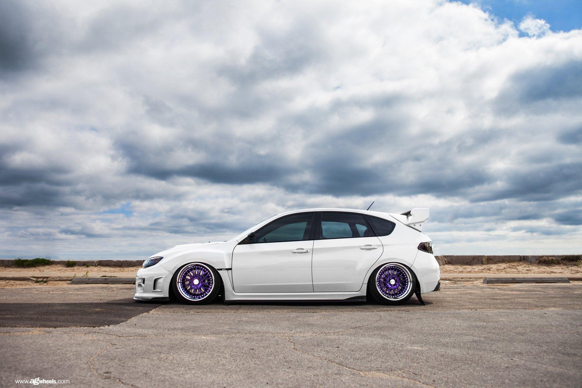 Amazing Transformation of White Stanced Subaru WRX with Custom Parts