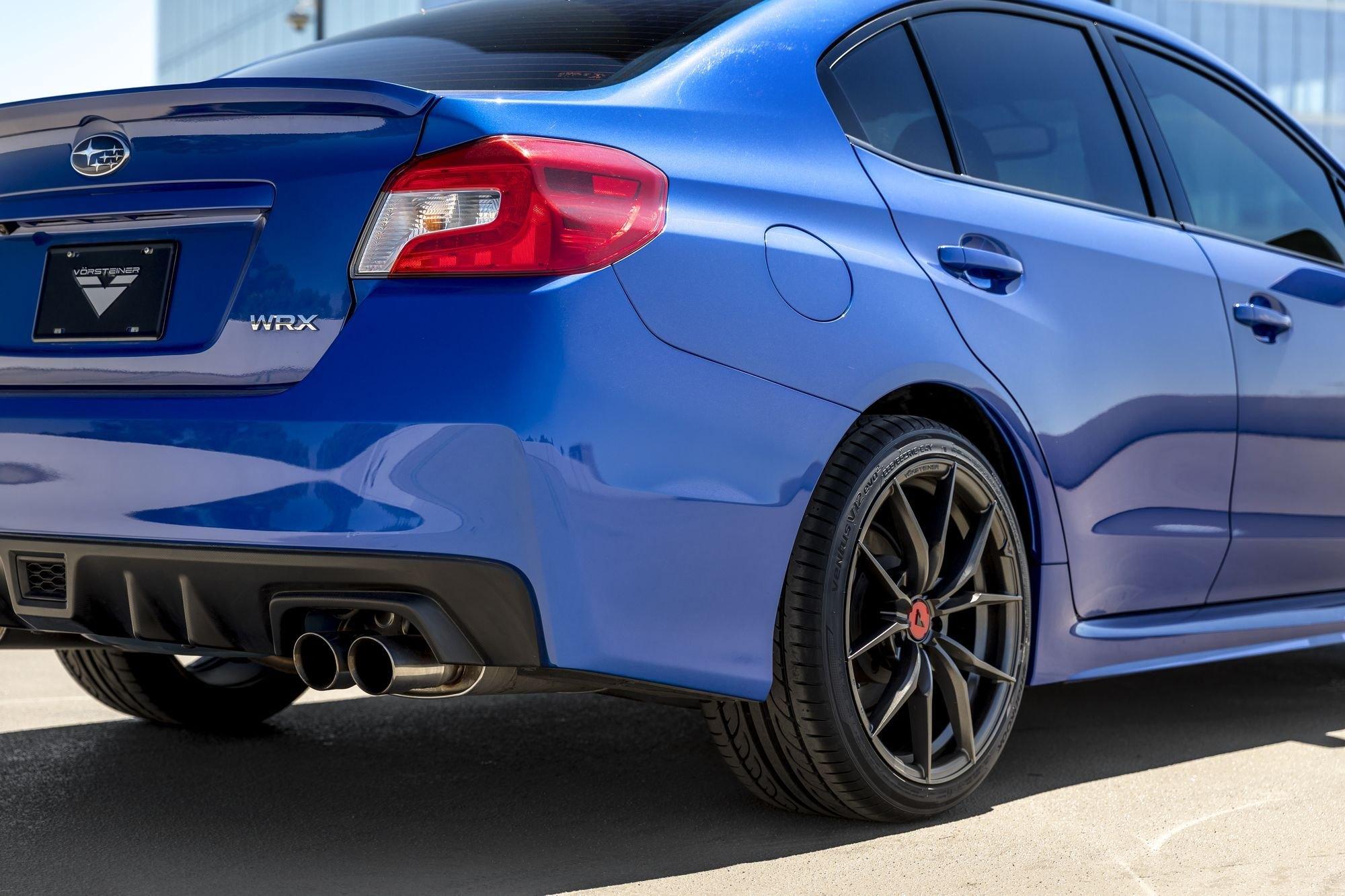Blue Subaru Wrx With Custom Vorsteiner Wheels Photo By Vorstiner