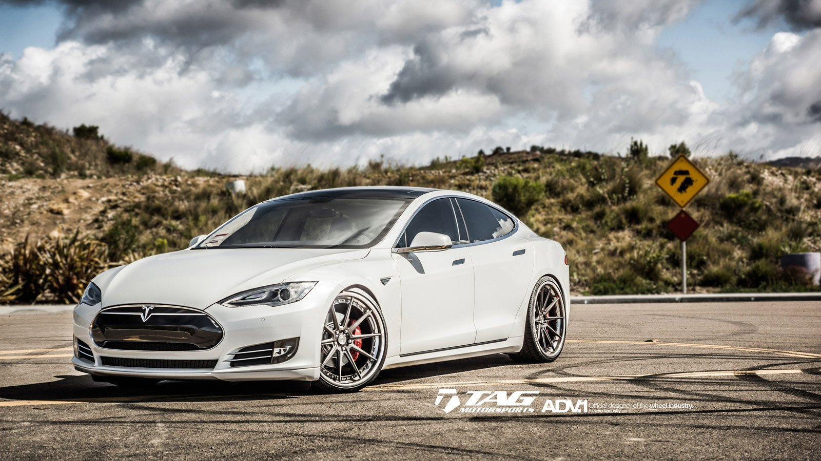 Car Enthusiast S Dream White Tesla Model S On Custom Rims Carid