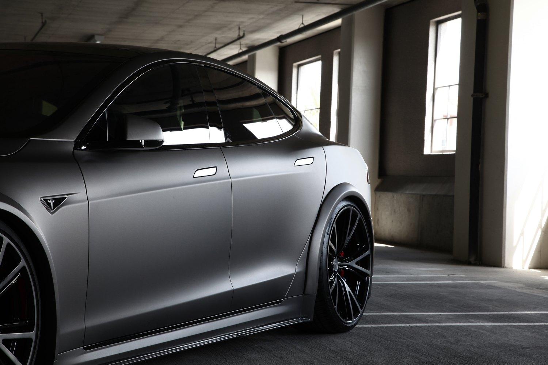 Tesla P90D Gets Custom Body kit Carbon Fiber Accents and