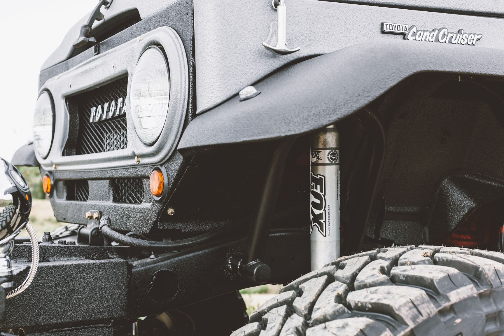 Extreme Lift For Gray Toyota Land Cruiser Fitted With Custom Parts 1960 Lifted Fox Suspension Kit On Photo By Rebel Off Road