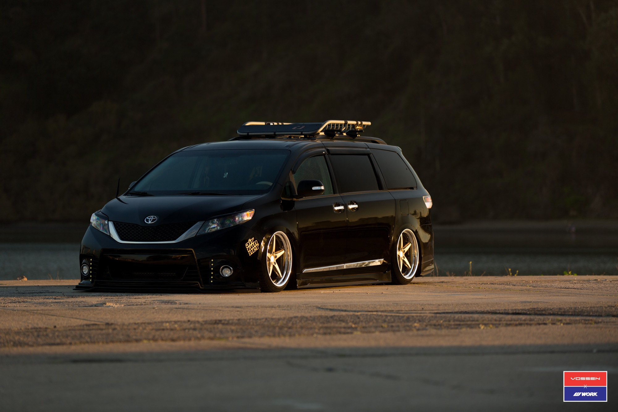Black Toyota Sienna With Custom Body Kit