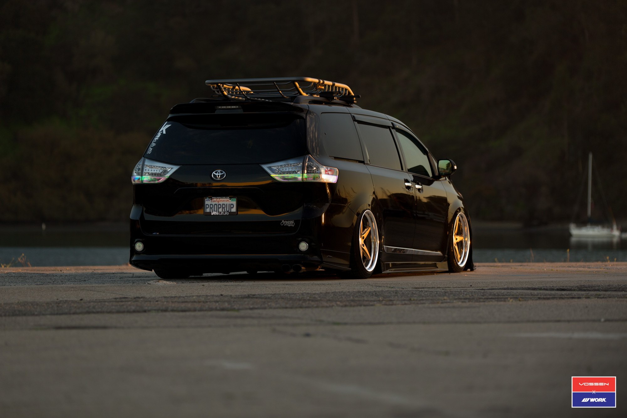 stanced out black toyota sienna and fitted with custom body kit carid com gallery stanced out black toyota sienna and