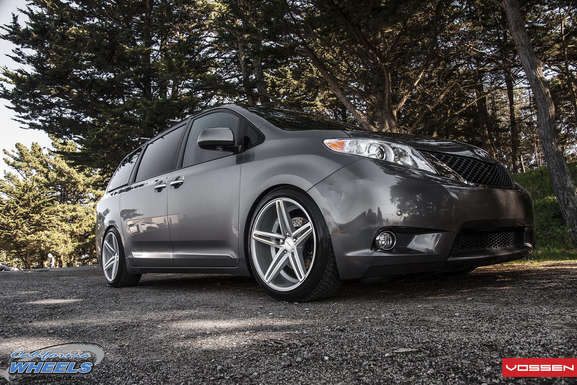 Gray Metallic Toyota Sienna With Custom Grille