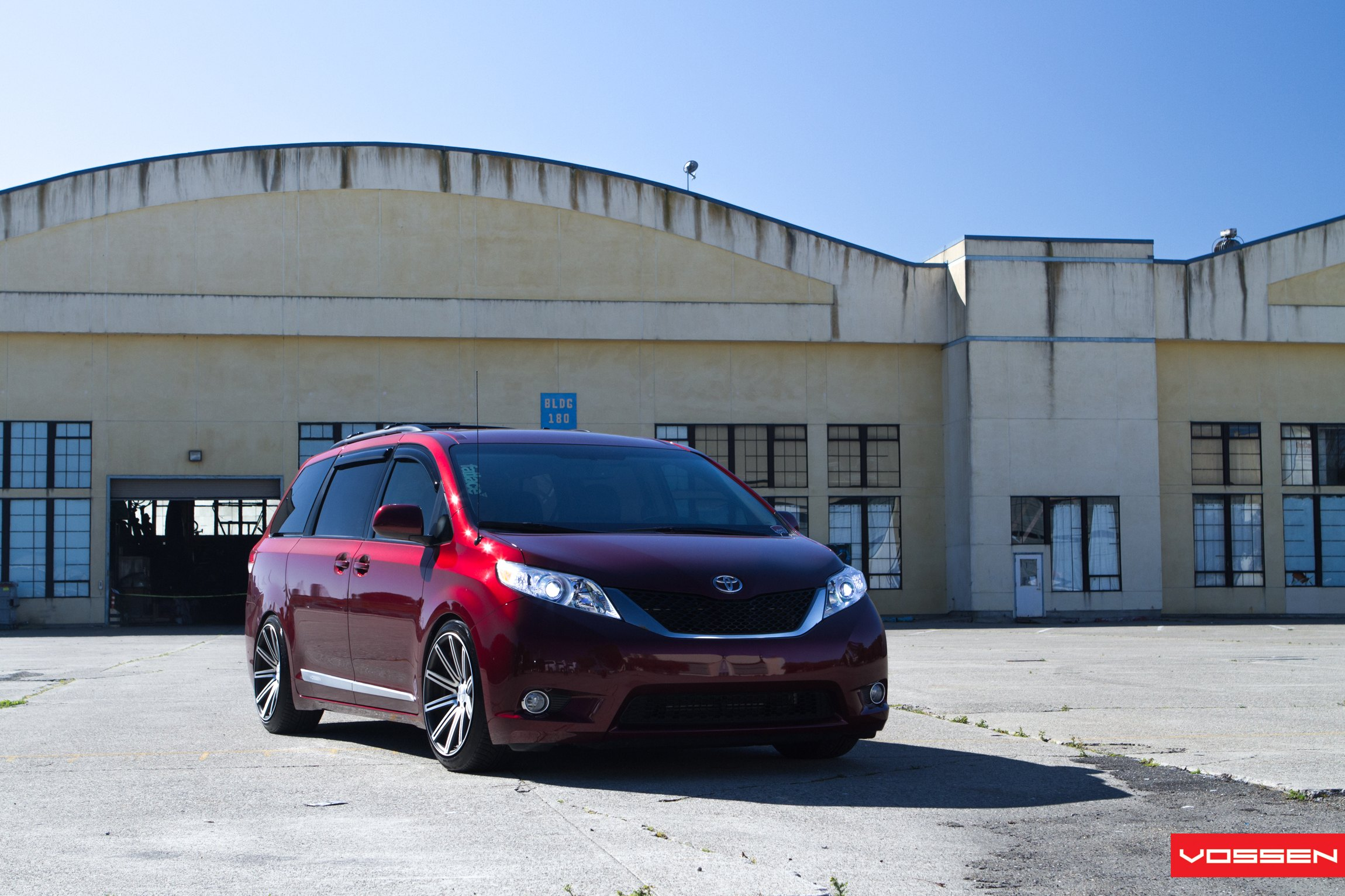 Hot Family Minivan Gets Air Suspension And Classy Vossen Rims