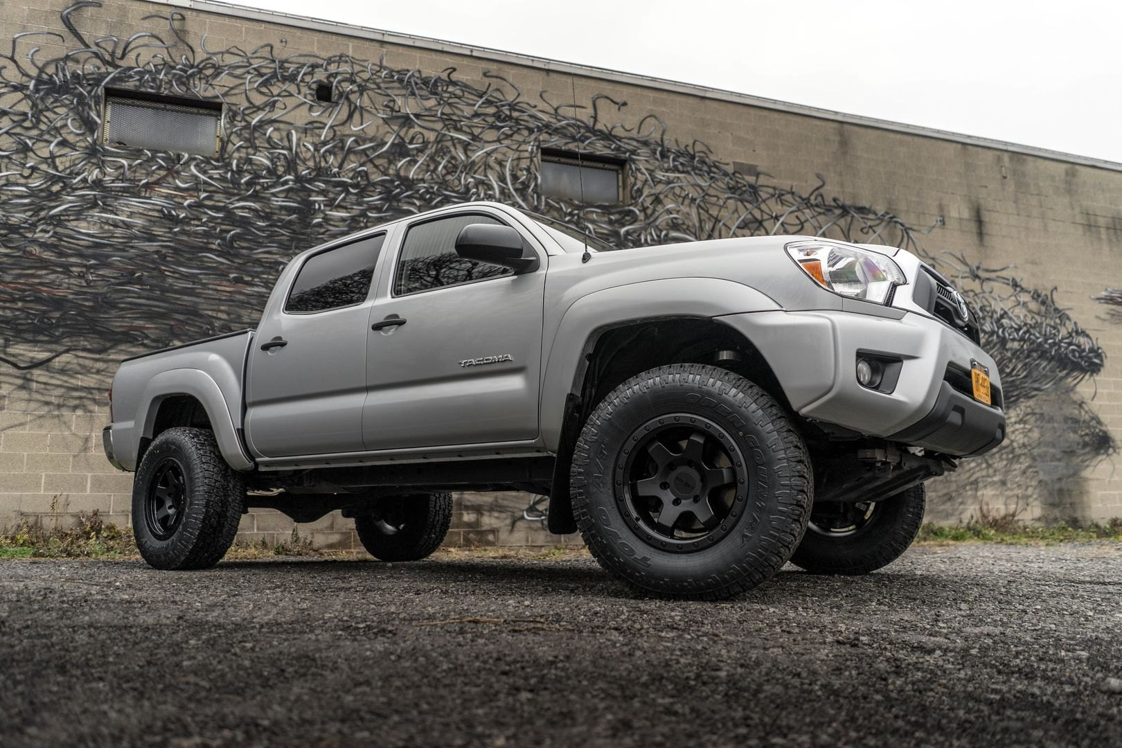 rotiform six off road rims on lifted toyota tacoma truck. Black Bedroom Furniture Sets. Home Design Ideas