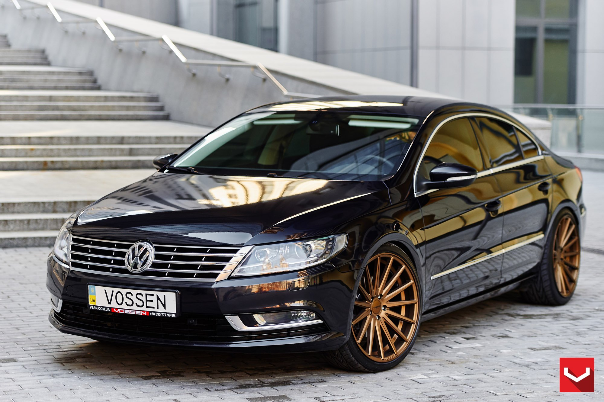 gloss black vw cc revized with a few accessories carid. Black Bedroom Furniture Sets. Home Design Ideas