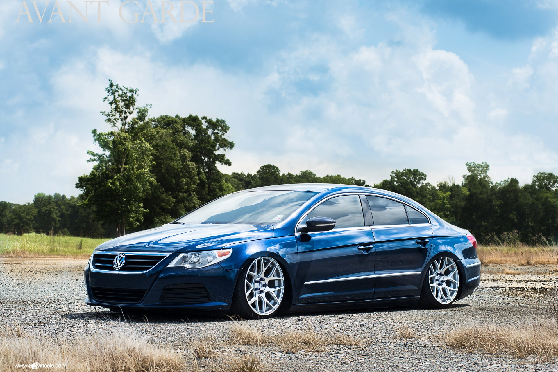 blue vw cc gets a distinct look with custom chrome trim. Black Bedroom Furniture Sets. Home Design Ideas