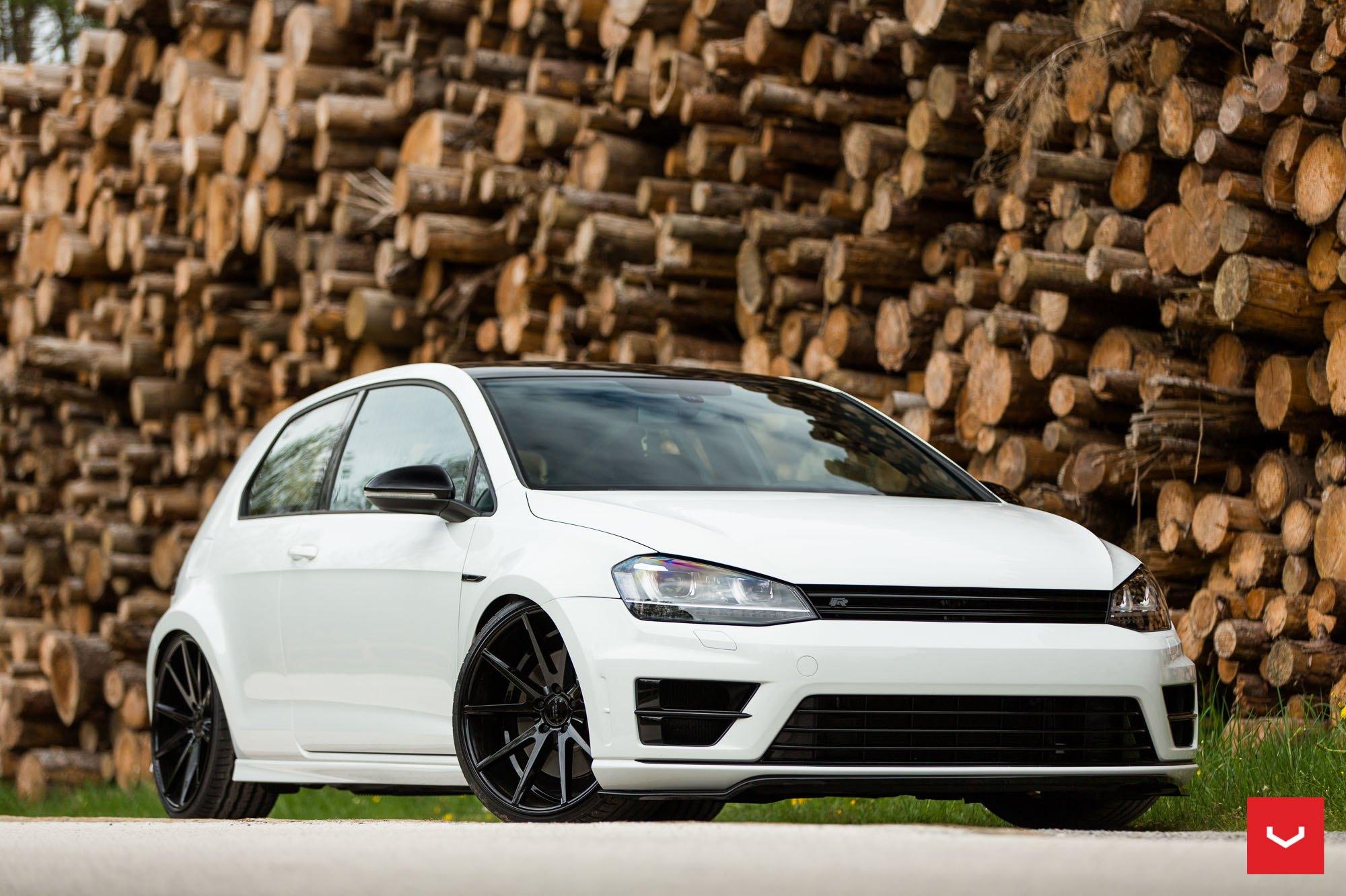 White VW Golf R Receives Black Custom Parts — CARiD.com Gallery