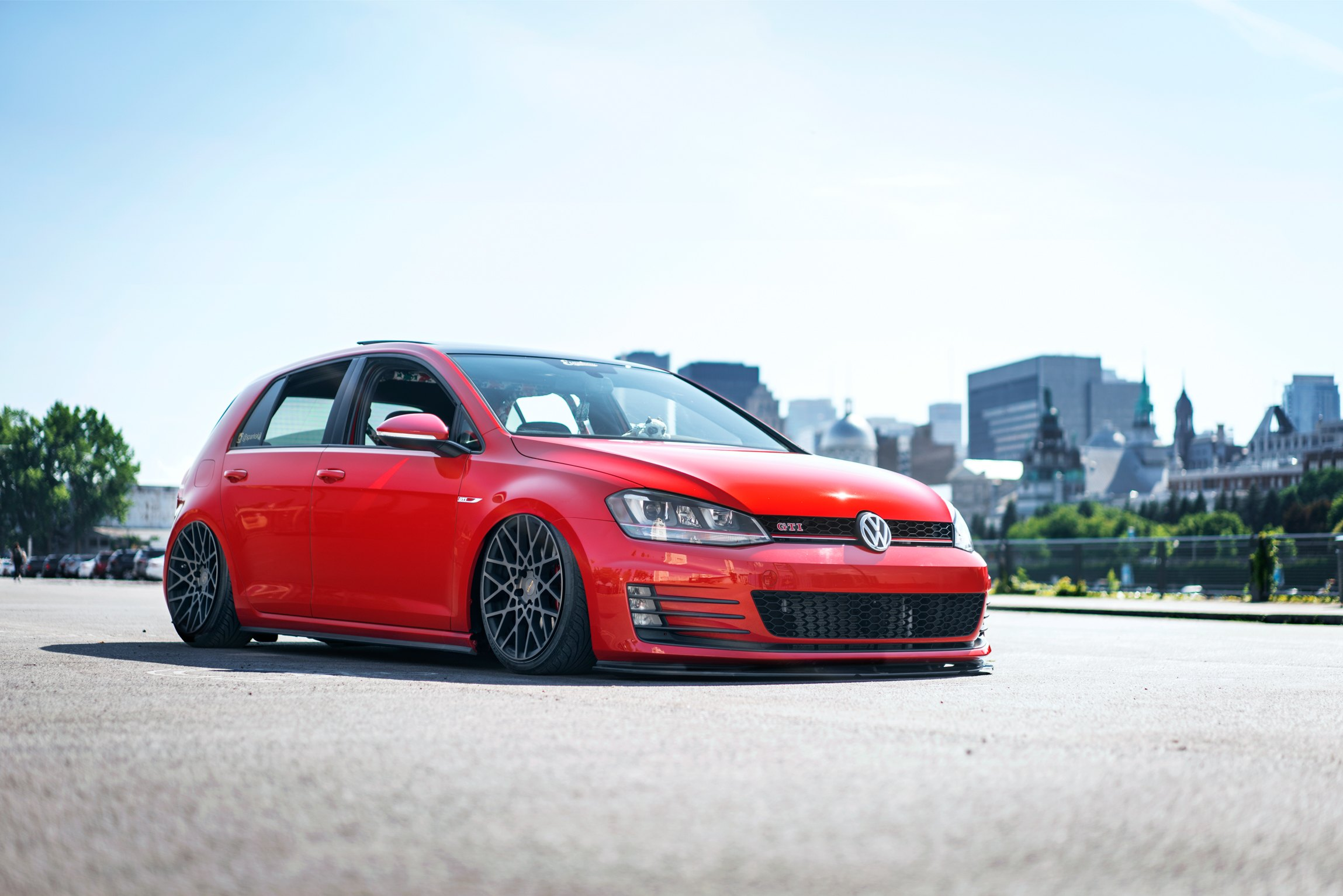Red Vw Golf Gti Custom Front Lip Photo By Rotiform