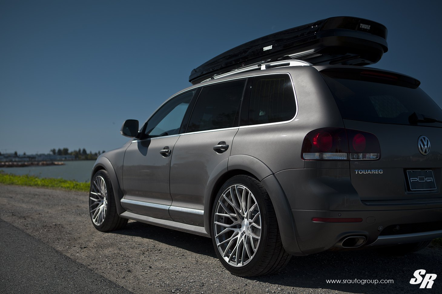 Gray Vw Touareg With Aftermarket Rear Diffuser Photo By Sr Auto Group