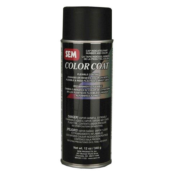 install bay sem15243 sem color coat aerosol satin black 12 oz. Black Bedroom Furniture Sets. Home Design Ideas