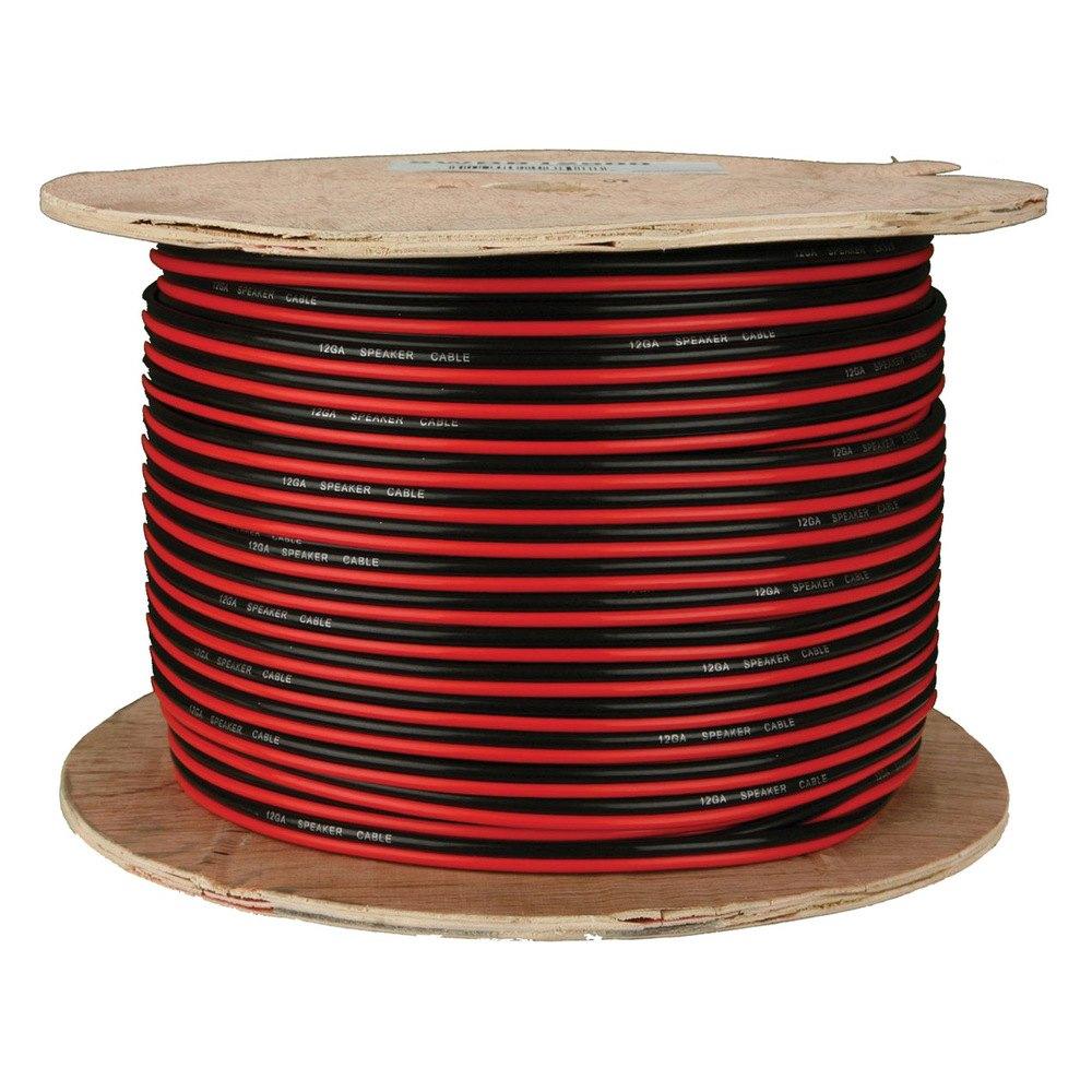 Install Bay® SWRB12500 - 12 Gauge 500\' Black/Red Speaker Wire