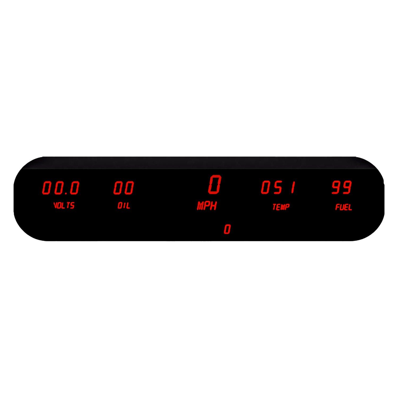 Digital Led Panel : Intellitronix dp r red led digital gauge panel kit