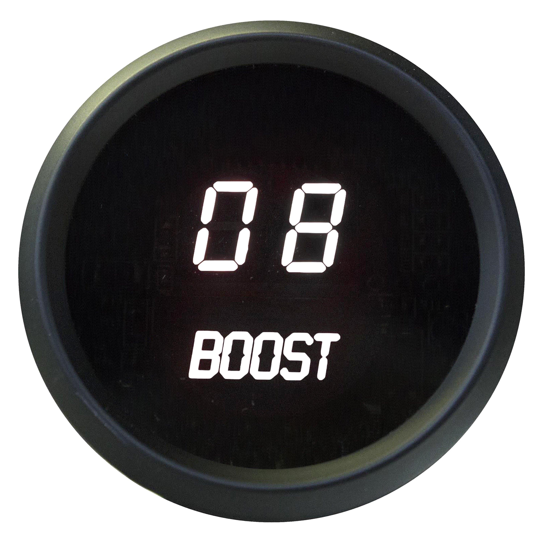 Intellitronix Digital Gauges : Intellitronix m w led digital boost gauge white