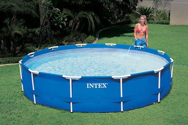 Intex metal frame pool set - Piscine intex 12 x 30 ...