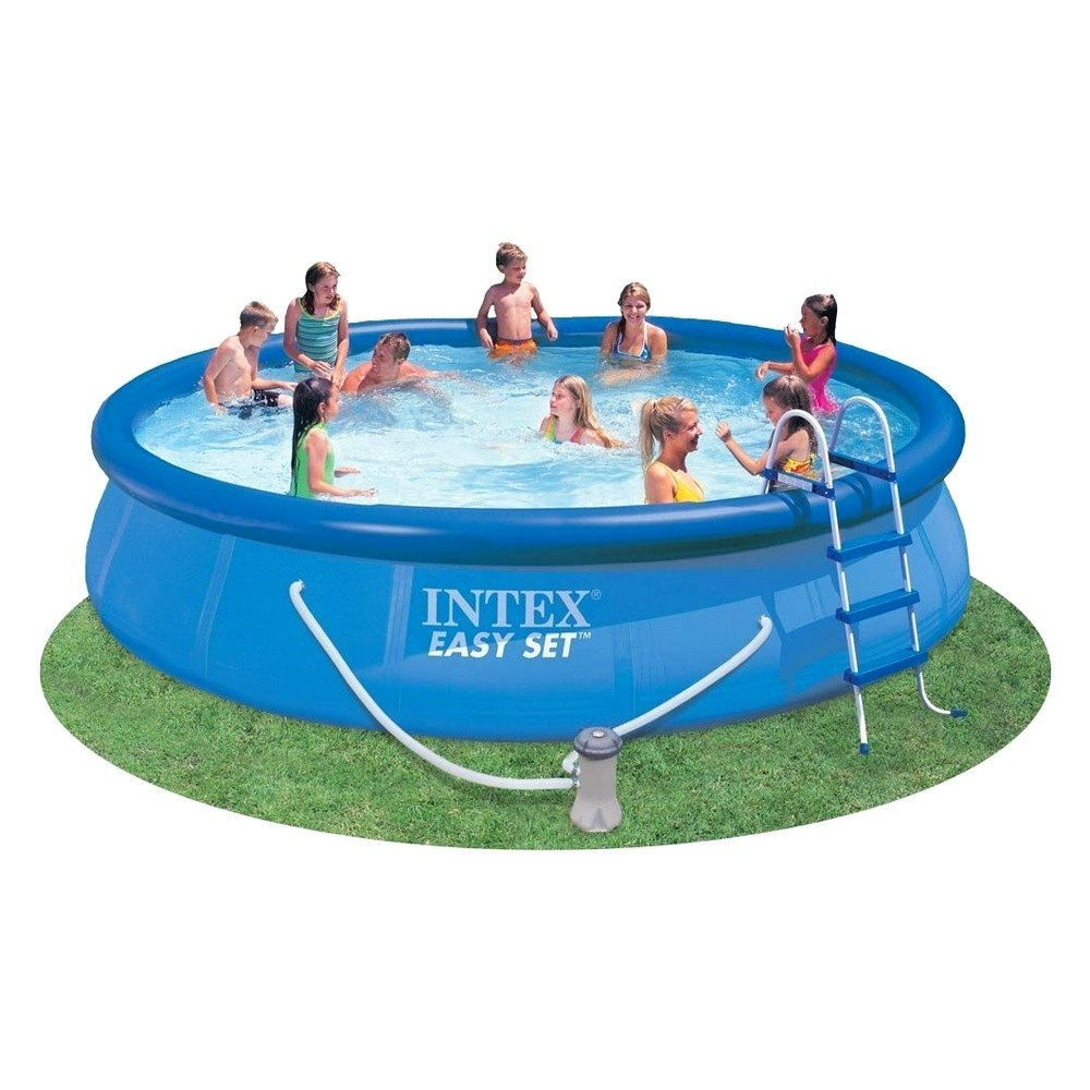 Intex easyset above ground swimming pool for Swimming pool dealers