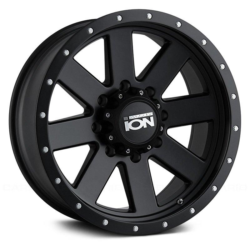 Ion Alloy 174 134 Wheels Matte Black Rims