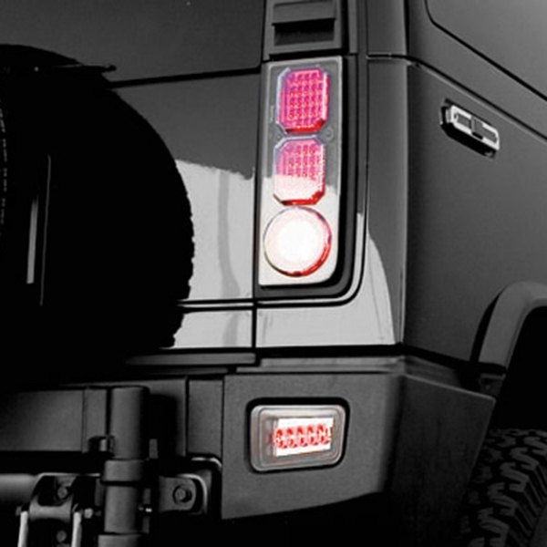 IPCW LEDT-343BPC Crystal Clear Rear Bumper Light Pair
