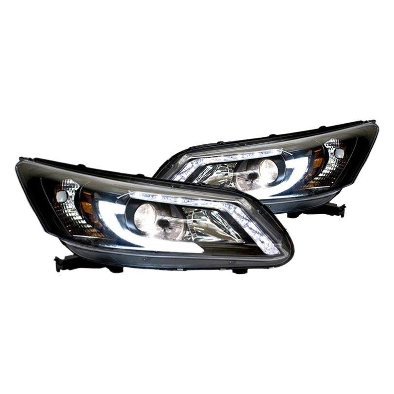 ipcw honda accord with factory led drl 4 doors 2014 black u bar projector led headlights. Black Bedroom Furniture Sets. Home Design Ideas