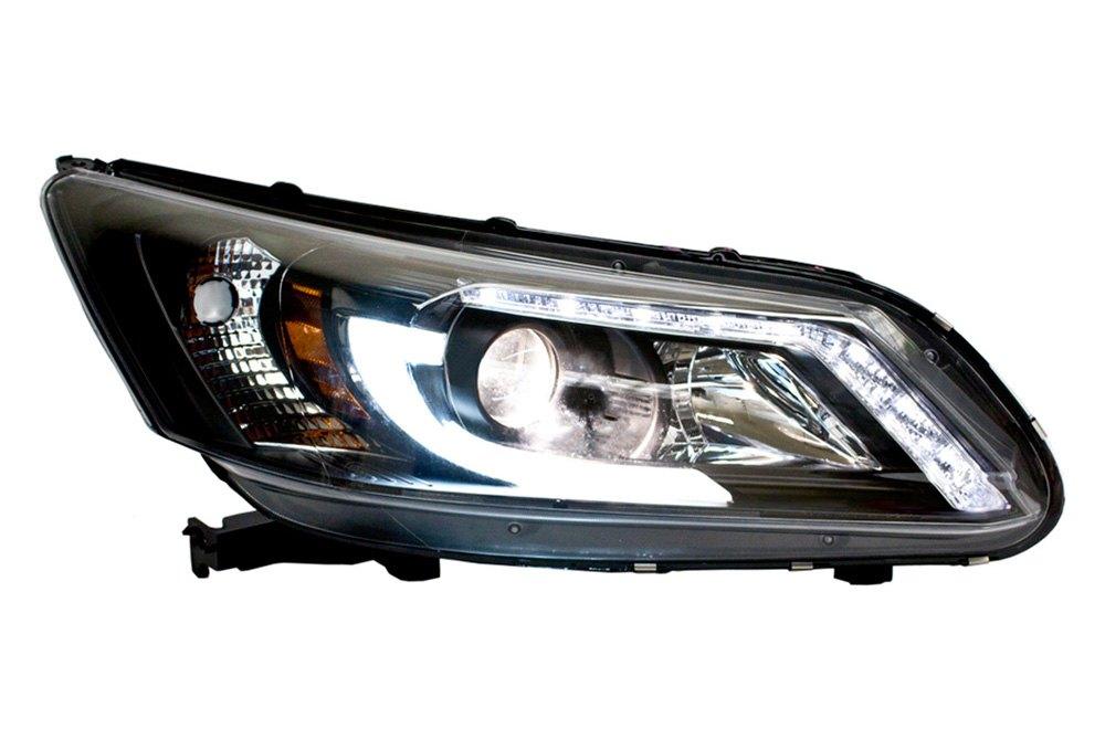 ipcw honda accord 4 doors with factory led drl 2014 black u bar projector led headlights. Black Bedroom Furniture Sets. Home Design Ideas