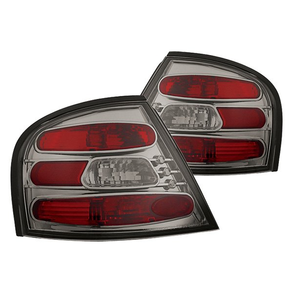 For Nissan Altima 1998-2001 IPCW Chrome Red//Amber Euro Tail Lights