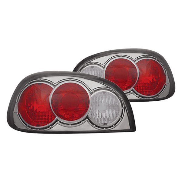 ipcw cwt ce340cs chrome red smoke euro tail lights. Black Bedroom Furniture Sets. Home Design Ideas