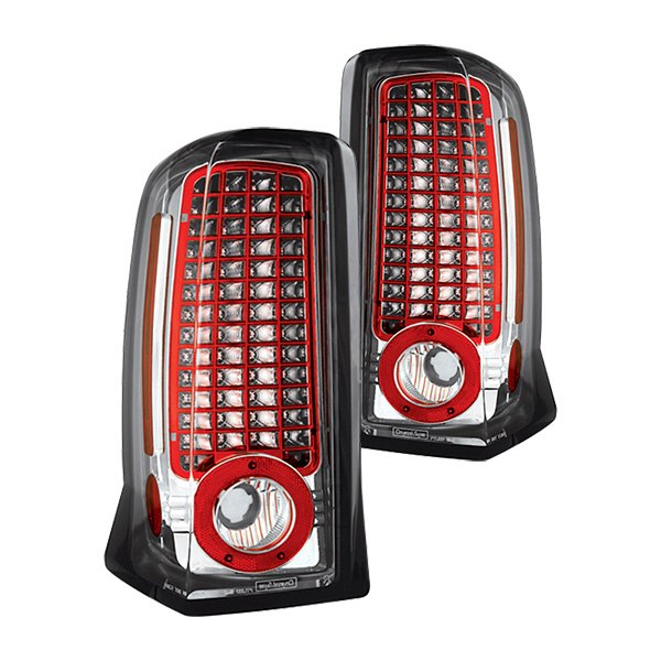 ipcw ledt 305c cadillac escalade 2002 chrome led tail lights. Black Bedroom Furniture Sets. Home Design Ideas
