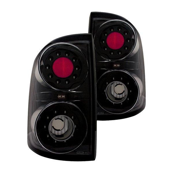 IPCW 05-11 Dodge Dakota LED Tail Lights, Black Truck Rear