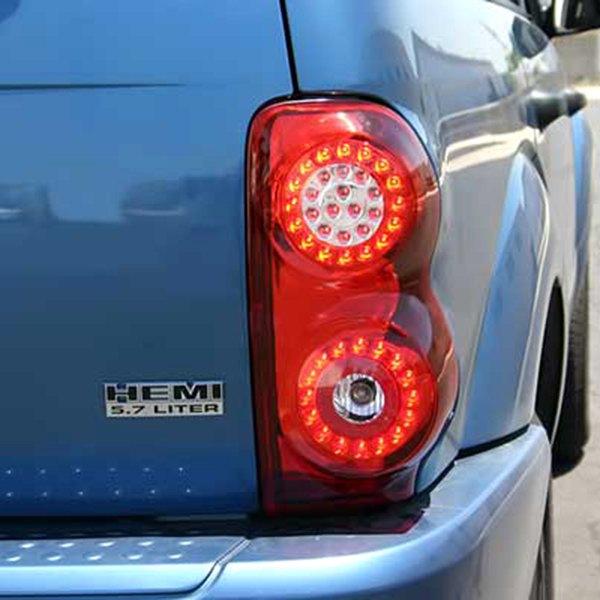 ipcw ledt 406cr dodge durango 2004 2009 chrome red led tail lights. Black Bedroom Furniture Sets. Home Design Ideas