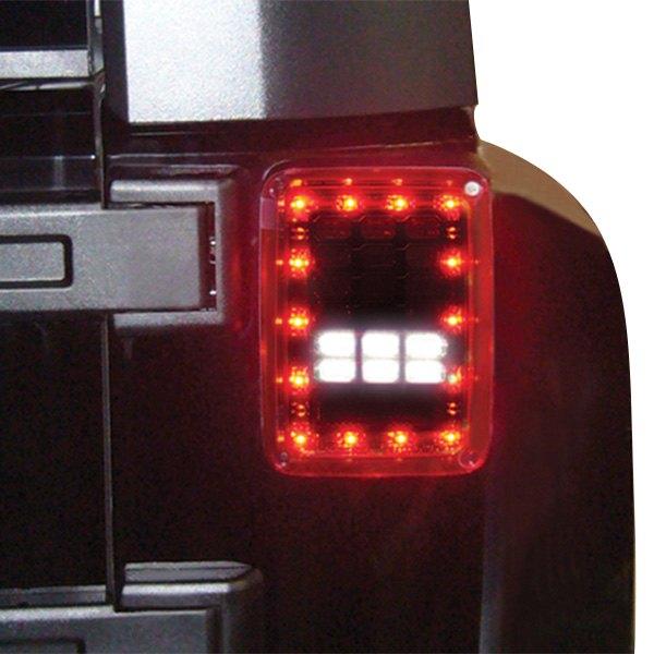 ipcw ledt 420cr jeep wrangler 2007 2017 chrome red led tail lights. Black Bedroom Furniture Sets. Home Design Ideas