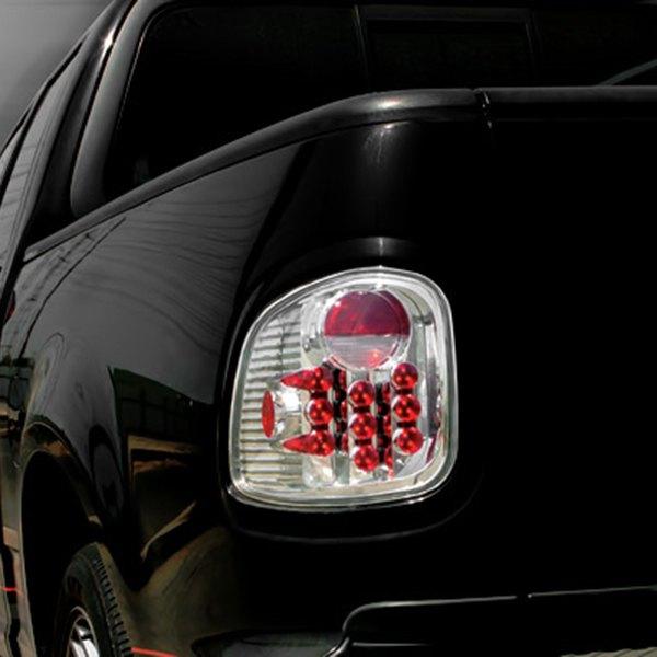 ipcw ledt 501fc ford f 150 2001 chrome red led tail lights. Black Bedroom Furniture Sets. Home Design Ideas