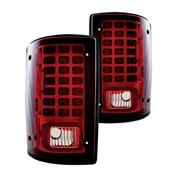 IPCW 95-09 Ford E-series LED Tail Lights, Red Van Rear
