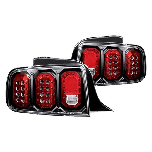 ipcw 05 08 ford mustang led tail lights black car rear. Black Bedroom Furniture Sets. Home Design Ideas