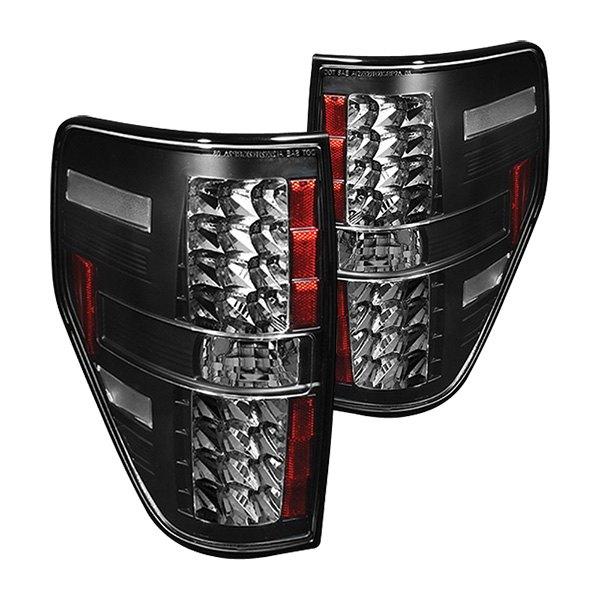 ipcw ledt 568b2 ford f 150 2012 black led tail lights. Black Bedroom Furniture Sets. Home Design Ideas