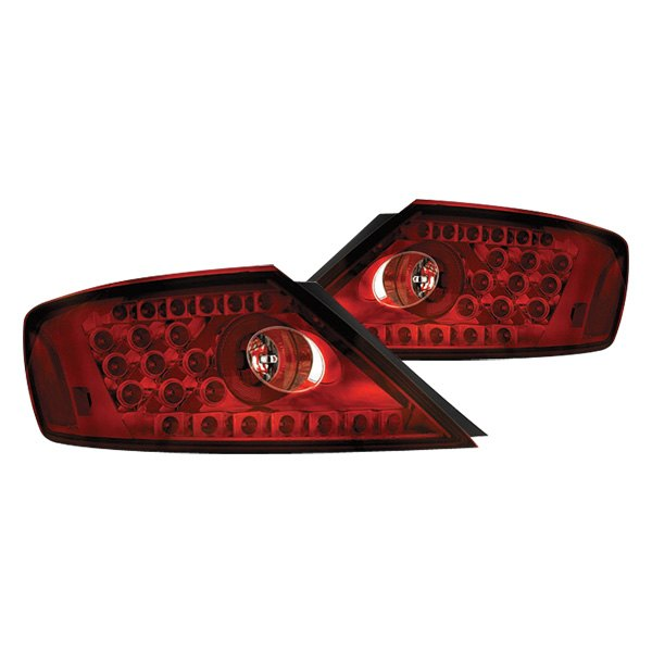 Details About For Honda Civic 2006 2010 Ipcw Chrome Ruby Red Led Tail Lights