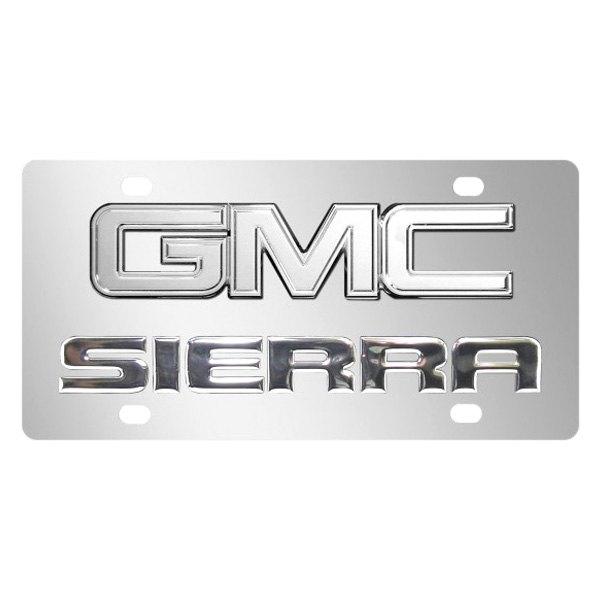 ipickimage® 317256 - chrome license plate with gmc sierra logo