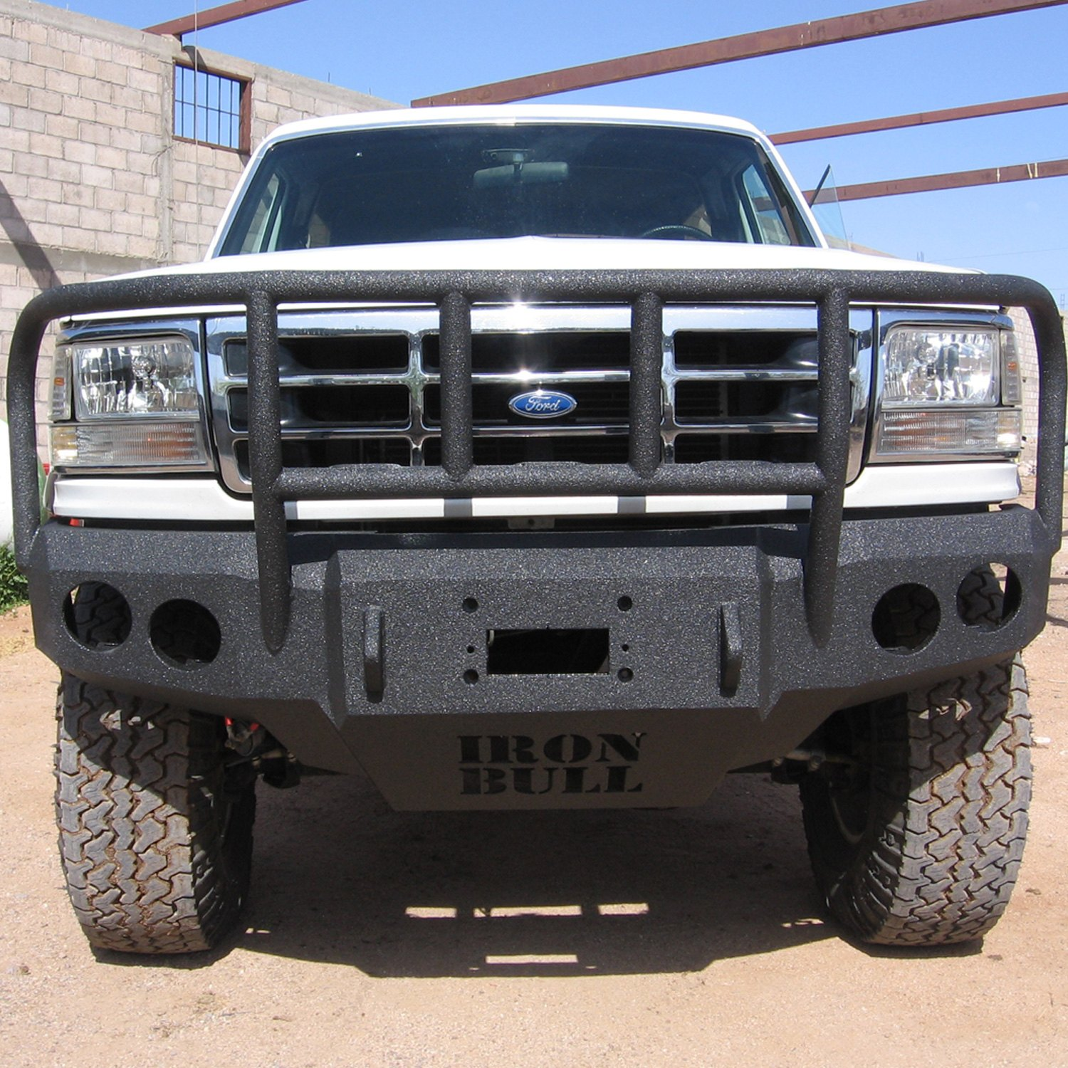Iron Bull Bumpers : Iron bull bumpers ford bronco full width black