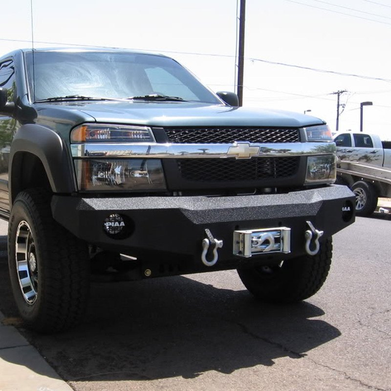iron bull bumpers chevy colorado 2011 full width black front winch hd bumper. Black Bedroom Furniture Sets. Home Design Ideas