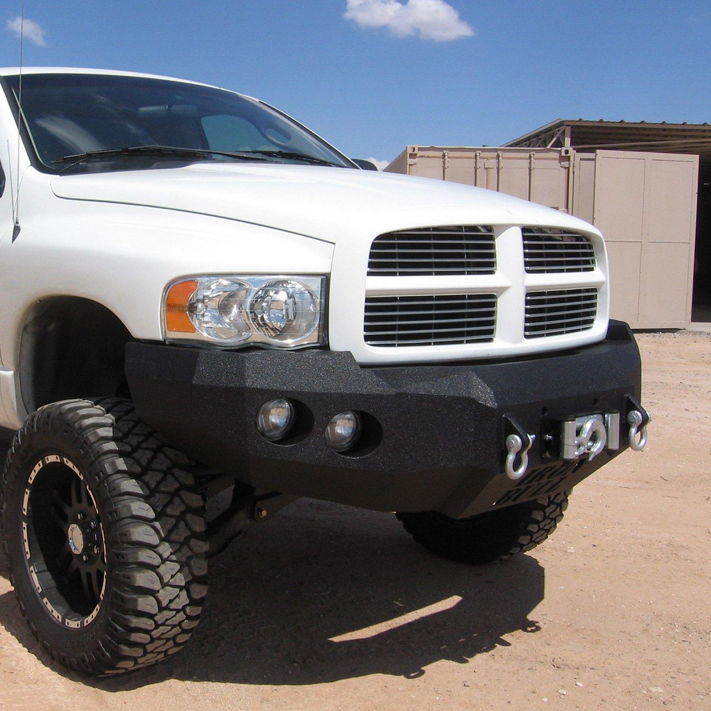 05 Dodge Ram: For Dodge Ram 1500 02-05 Full Width Black Front Winch HD