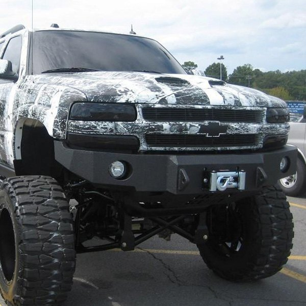 iron bull bumpers chevy tahoe 2003 base front winch black bumper. Black Bedroom Furniture Sets. Home Design Ideas