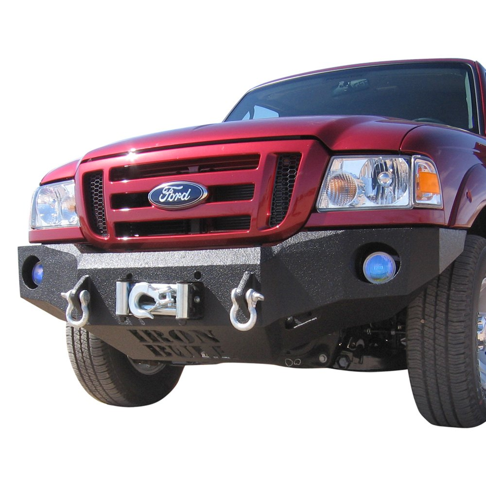 iron bull bumpers ford ranger 1993 1997 base front winch black bumper. Black Bedroom Furniture Sets. Home Design Ideas