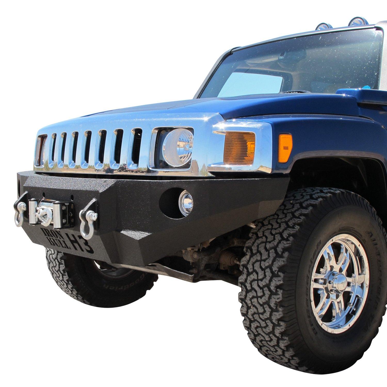 Hummer Models List >> Iron Bull Bumpers® - Hummer H3 2008 Base Front Winch Black Bumper