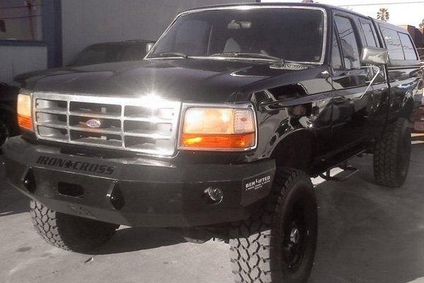 bumper front ford heavy cross duty iron 1995 series winch bumpers width 1996 f150 road
